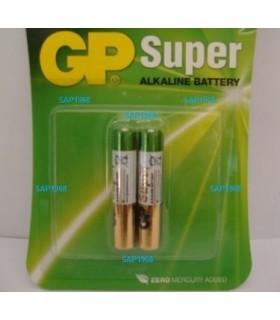 Blister 2 Pilhas Alcalinas AAAA de 1.5V GP25A, LR61 - 1692AAAA
