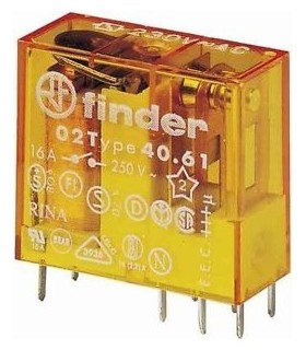 Relé 40.61.8.230.000, SPDT, 230VAC, 16A/250VAC - F40618230