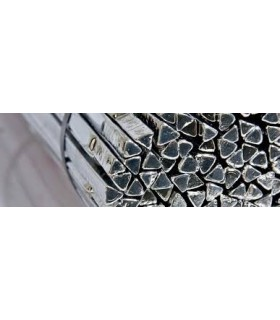 Solda em barra, triangular, Sn60Pb40 - 8/10 x 400mm - STALOT0084