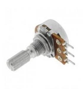 Potenciometro 220K Veio Metalico - 1620220KM