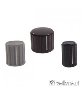 KN204GS - Botao Cinza Com Linha Branca 20x16mm - KN204GS