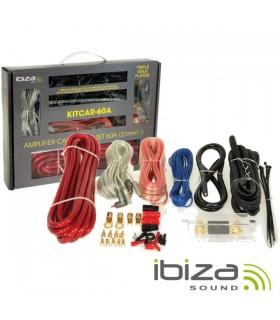 KITCAR60A - Kit Cabos Completo Para Amplificador/Colunas 60A - KITCAR60A