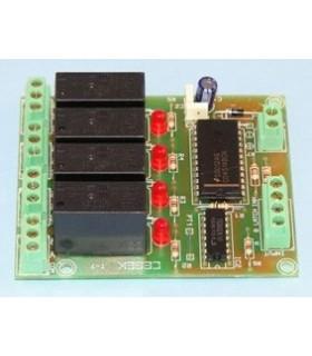 T-7 - Modulo de Relés 4 Canais Com Controlo Bcd - T-7