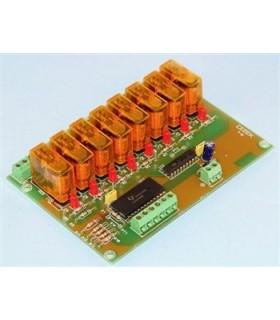 T-8 - Modulo de Relés 8 Canais Com Controlo Bcd - T-8