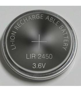 Pilha de Lítio LIR2450 recarregável 3.6V 120mAh - LIR2450