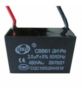 CBB61 - Condensador Filtragem 5uF 450VAC - CBB615U