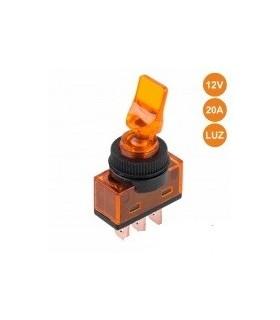 Interruptor Alavanca Luminoso Laranja - ITR110O