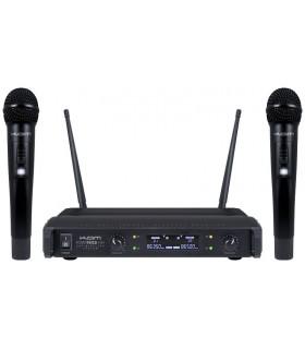 Central 3 Microfones UHF S/Fios 1 Mão