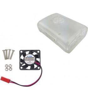 Caixa para Raspberry Pi3 Transparente com Ventilacao - RASPBOXCOOL