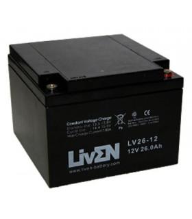 LV26-12 - Bateria Gel Chumbo 12V 26Ah - 125x166x175mm - 1224