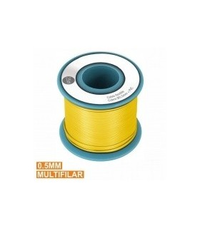 PKCU05/25Y - Rolo de Cabo Unifilar Amarelo 0.5mm Rolo 25M - PKCU05/25Y