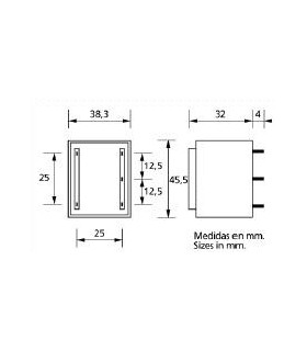 TR5512 - Transformador Encap. Ariston 12+12V 6VA - TR5512