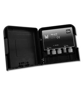 Filtro de rejeição LTE, TETRA e GSM de 60 dB, p/ mastro - FR-619