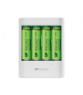Carregador De Pilhas USB GP c/ 4 Pilhas 2000mAh
