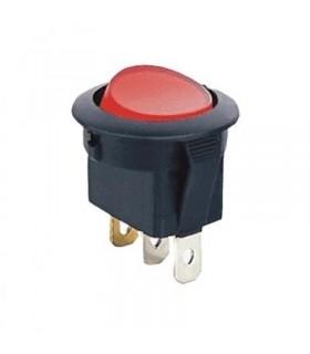 Interruptor Basculante 1 Circuito 2 Posições Vermelho - MX5175716