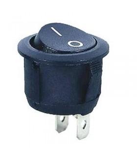 Interruptor Basculante 1 Circuito 6A 250V Preto - MX517456