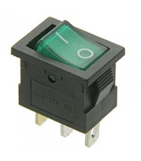 Interruptor Basculante 1 Circuito Verde Luminoso - MX51726