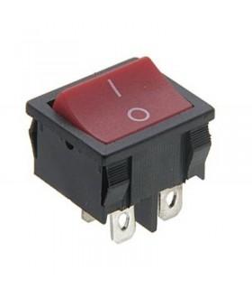 Interruptor Basculante 2 Circuitos Vermelho 6A 250V - MX518016