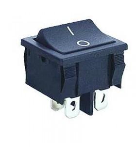 Interruptor Basculante 2 Circuitos Preto 6A 250V - MX518006