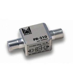 Pre-amplificador 5-2400 MHz 10 dB telealimentado com passage - PR-310