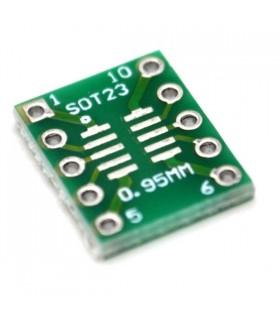 Adaptador SOT23/SOP10 - DIP10 - SOT23DIP10