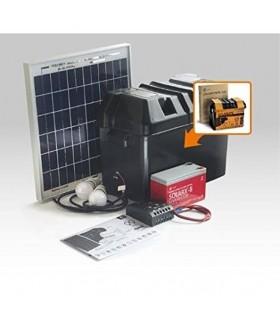Kit iluminacao LED Solar com Bateria 15W Xunzel - SOLARLIFE15I
