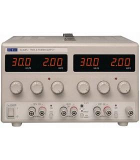Triple Power Supply 2x 0-30V, 0-2A + 1,5V TO - EL302TV