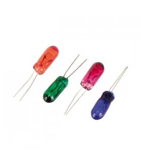 Lâmpada 12V Azul Com Fios 100mA - L12AZ