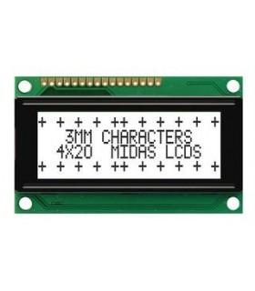 MC42004A6WR-FPTLW-V2 - Alpha-Numeric LCD, 20x4, Black-White - MC42004A6WR