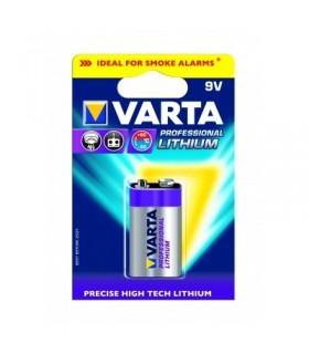 Pilha de lítio 9V 6LR61 - Varta Professional Lithium 612 - 1696LF22LI