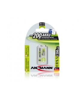 Pilha Recarregavel Ansmann 9V 300Mah - 5035453
