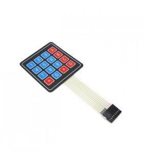 MX120726003 - Sealed membrane 4X4 button pad with sticker - MX120726003