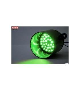 Módulo luz de sinalização 39 LEDs Verdes - Kemo M137 - MX096-5256