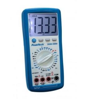 3335-Multimetro Digital 3 ½-digitos CAT II 1000V 20A - PT3335