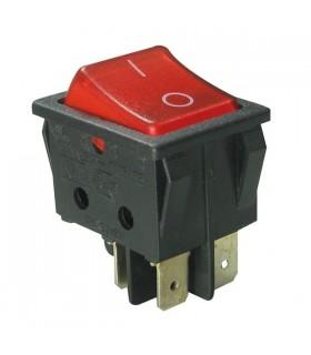 Interruptor Basculante Grande Duplo Com Luz - 914BDL
