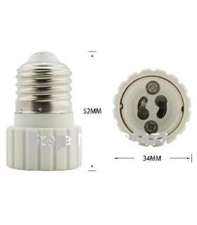 Adaptador Suporte E27 Para GU10 - MG27-GU10