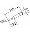 Ponta 0.3mm para ERSA I-Tool - 0102PDLF03L/SB
