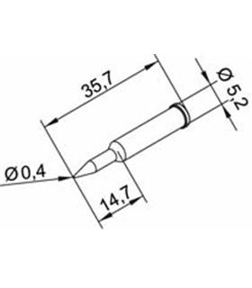 Ponta 0.4mm para ERSA I-Tool - 0102PDLF04/SB