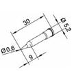 Ponta 0.6mm para ERSA I-Tool Pack 10un - 0102PDLF06/10