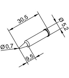 Ponta 0.7mm para ERSA I-Tool - 0102PDLF07/SB