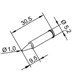Ponta 1mm para ERSA I-Tool - 0102PDLF10/SB