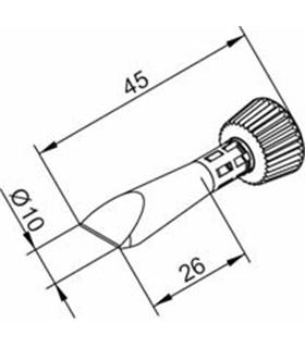 Ponta 10mm para ERSA I-Tool - 0102CDLF100/SB