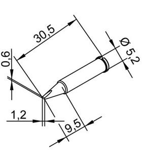 Ponta 1.2mm para ERSA I-Tool - 0102CDLF12/SB