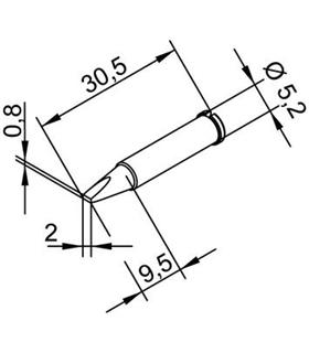 Ponta 2mm para ERSA I-Tool - 0102CDLF20/SB
