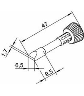 Ponta 6.5mm para ERSA I-Tool Pack 10un - 0102CDLF65/10