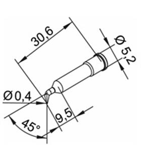 Ponta 0.4mm para ERSA I-Tool - 0102SDLF04/SB