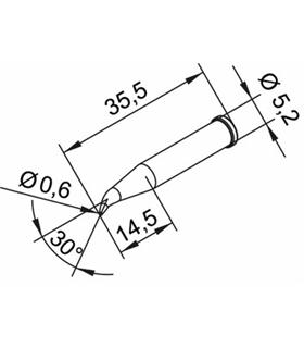 Ponta 0.6mm para ERSA I-Tool Pack 10un - 0102SDLF06/10
