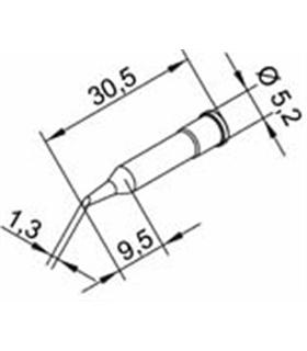 Ponta 1.3mm para ERSA I-Tool Pack 10un - 0102ADLF13/10
