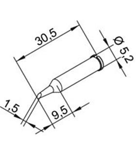 Ponta 1.5mm para ERSA I-Tool - 0102ADLF15/SB