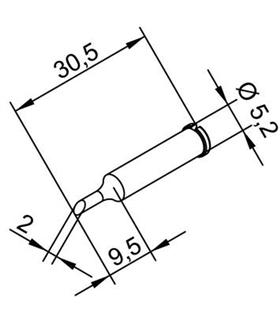 Ponta 2mm para ERSA I-Tool - 0102ADLF20/SB